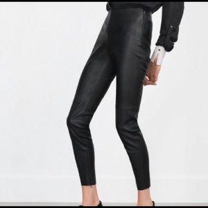 Zara Faux Leather Skinny Pants